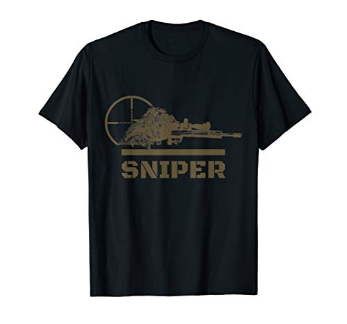 Sniper Ghillie Suit and Reticle Military T-Shirt