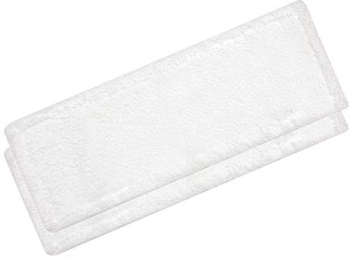 3x microvezel-pop voor huishouden en commercieel | wismeubilair voor mophouder van 40 cm | wisserovertrekken voor vochtige reiniging en droogreiniging (wit)