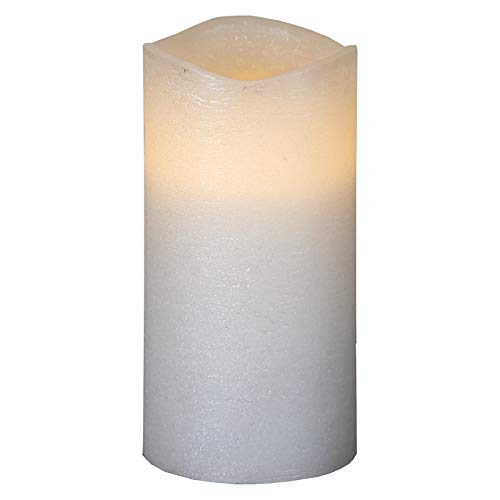Smart Planet® Bougie LED vacillante de qualité supérieure en blanc – La flamme se déplace par le courant d'air – Avec fonction minuterie – env. 15 x 7,5 cm
