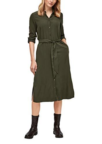 s.Oliver Damen Hemdblusenkleid aus softem Twill khaki 46