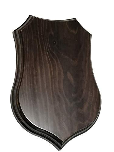 Metopa. Peana madera para colgar. En madera maciza. Barnizado color Nogal. (24 * 16 cms)