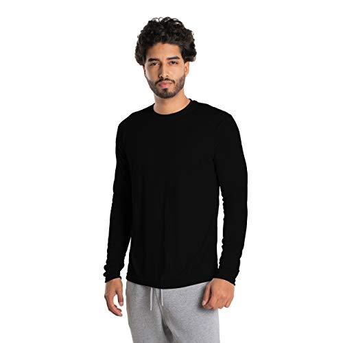 Vapor Apparel Herren Atmungsaktives UPF 50+ UV Sonnenschutz Langarm Funktions T-Shirt XX-L Schwarz