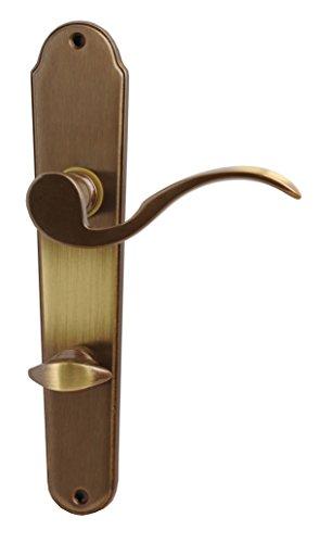 Alpertec 32212433 Panda-LS Messing brüniert für Badtüren WC Drückergarnitur Türdrücker Türbeschläge Neu, für Badezimmertüren