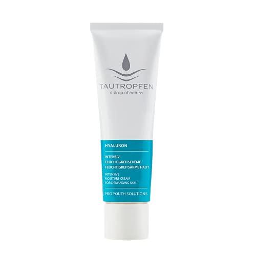 TAUTROPFEN Naturkosmetik, Hyaluron, Intensiv Feuchtigkeitscreme für normale bis feuchtigkeitsarme Haut, 30 ml