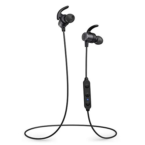TaoTronics Bluetooth Headphones SoundElite 72 Sports Magnetic Earphones Wireless Earbuds Bluetooth 5.0 aptX HD Audio 3 Eq Setting 14H Playtime CVC 8.0 Noise cancellation Bulit-In Mic IPX6 Waterproof
