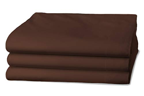 Clinotest Glatte Bettlaken in 100x200 cm, Dunkelbraun, 100% Baumwolle, auch für Abdeckungen/Tischdecken/Fangolaken/Sommerlaken zum zudecken