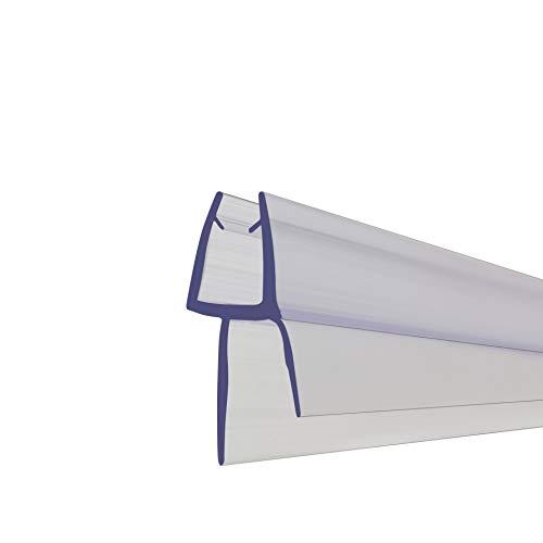 Duschtürdichtung für 4-6 mm Glas-Duschwand Bodenfeger PVC 88mm lang