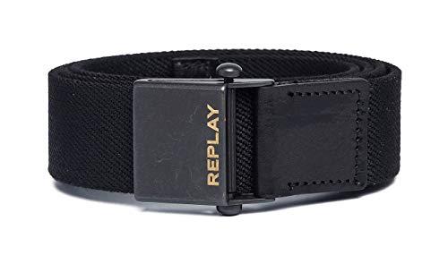 REPLAY Am2545.001.a0017 Cinturón, Negro (Black 098), 105 (Talla del fabricante: 90) para Hombre