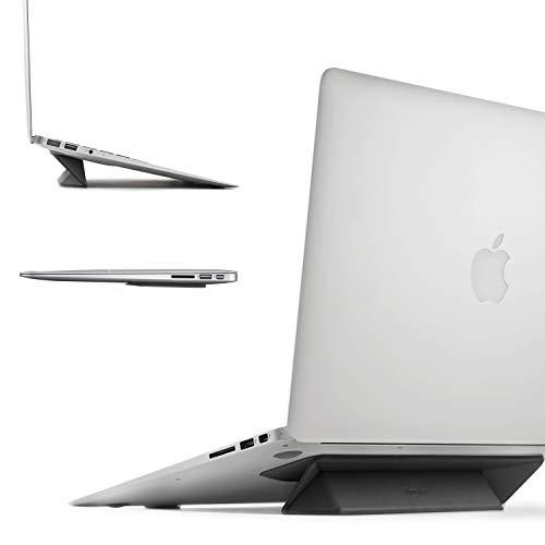 Ringke Laptopstandaard [Zwart] Slimme Vouwbare, Draagbare, Slanke en Gewichtloze Zelfklevende Standaard voor Laptop, iPad, Tablet