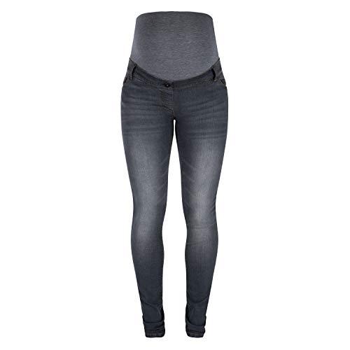 Love2Wait Umstandshose Schwangerschafts-Jeans SOPHIA , Grey Denim, L