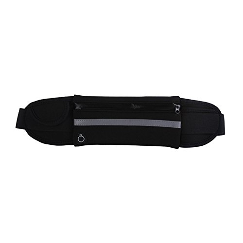Unisex Men Women Waterproof Sport Runner Waist Bum Bag Running Jogging Belt Pouch Zip Fanny Pack