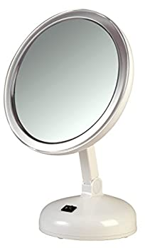 Floxite 10X Magnifying LED Lighted Vanity Mirror with 2 Light Settings