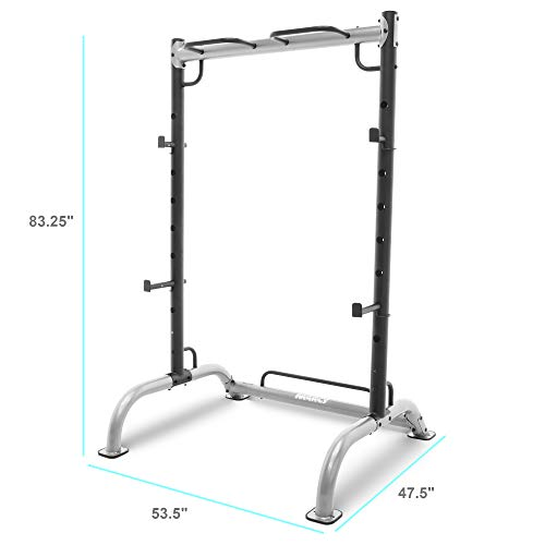 Marcy Cage Squat Rack Pull Up and Push Up Station with Olympic Barbell Catches...