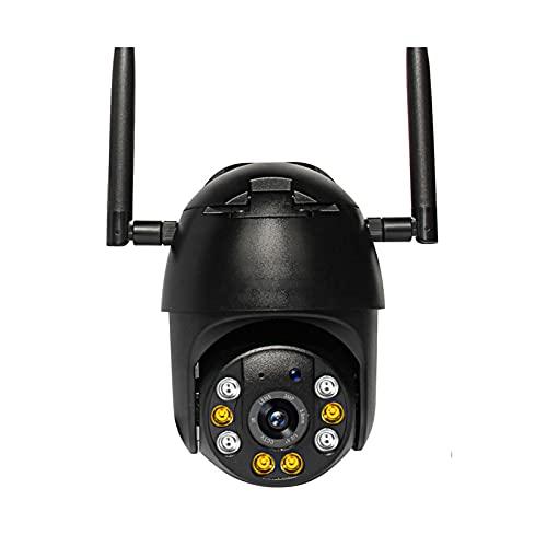 Cámara de seguridad para exteriores, 1080P WiFi Cámaras de vigilancia de seguridad para el hogar, IP66 a prueba de agua, Cámaras WiFi para seguridad en el hogar con visión nocturna PTZ Detección de mo