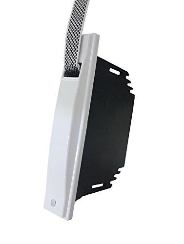 RIBER 040.015 Recogedor de persiana universal C/20, color blanco con placa PVC atornillada