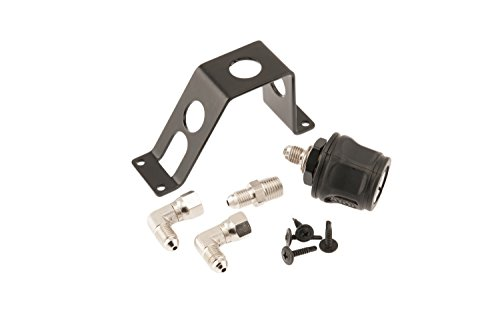 ARB 171314 Remote Hose Coupling Kit Incl. Quick Connect Coupling JIC-04 To 1/4 in. NPT Fitting Two JIC-04 90 Degree Elbows 3 Way Mounting Bracket w/Screws Remote Hose Coupling Kit