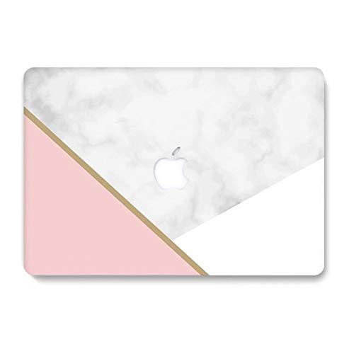 AQYLQ Custodia Rigida Compatibile con Vecchio MacBook PRO 13 Pollici con CD-Rom Modello A1278 (Versione 2012/2011/2010/2009/2008), Matt Plastic Case Cover Rigida Copertina, DL56 Marmo Bianco e Rosa