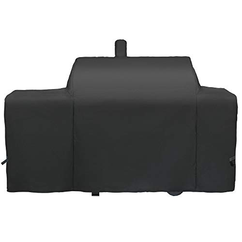 i COVER Grill Cover for Oklahoma Joe's Longhorn Grill Combo Smoker Combo Heavy Duty Waterproof Patio Outdoor Canvas Barbeque BBQ Grill Smoker Cover