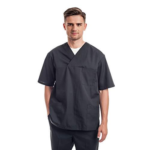 Uniformes Sanitario Pijama Hombre - 7 Tamaños A Medida Xs-3xl - Úsalo como Medico, Enfermera, Peluqueria, Veterinario, SPA, Fisioterapeuta Uniforme O De Trabajo Limpieza, Casaca Estetica Ropa