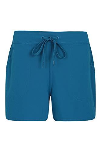 Mountain Warehouse Pantalones Cortos de Surf para Mujer - Pantalones elásticos con protección UV - Ligeros y de Secado rápido - para Verano, Surf, Playa y Piscina Azul 34