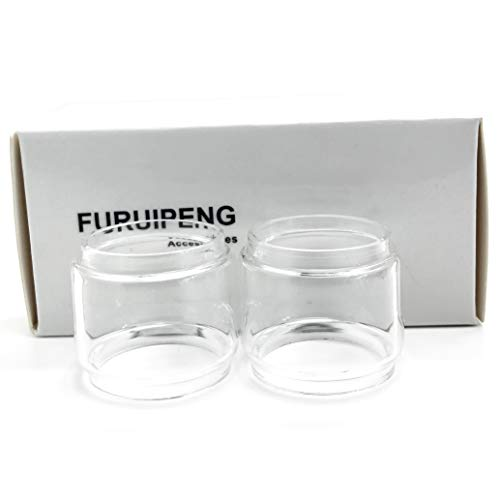 Furuipeng 2X Spare Bulb Pyrex Glass Tube Pieces for SMOK TFV12 Prince Tank Clear