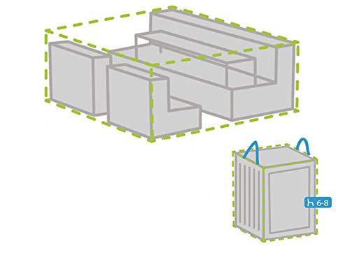 Housse de protection XS 140 x 140 cm pour salon de jardin + housse pour 6-8 coussins