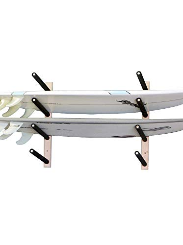 Surfboard, Wakeboard, Kiteboard Wall Rack Mount -- Holds 4...