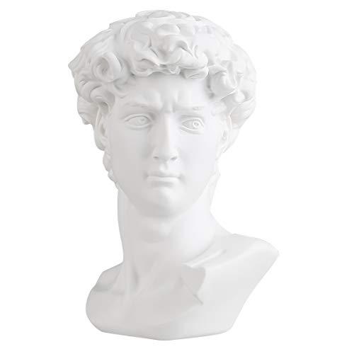 zamonji 6 Zoll klassisch griechisch Michelangelo David Harz Büste Statue Replikat Skulptur Figurine Skizze Zeichnung Schreibtischdekor