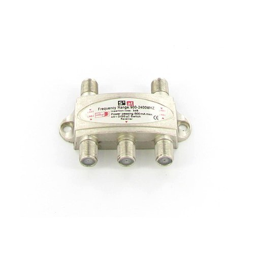DiSEqC Satellite Switch 4x1 2.0 FTA Receiver Dish LNB