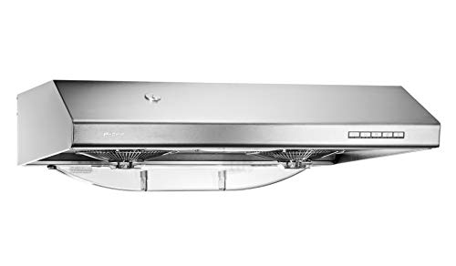 Pacific Kitchen Vent Hood AC30BS – 30 Inch Under Cabinet Range Hood – Filterless Modern Stainless Steel Hood Vent with 900 CFM Suction, Dual Fans, LED Touch Controls and Auto-Clean Function