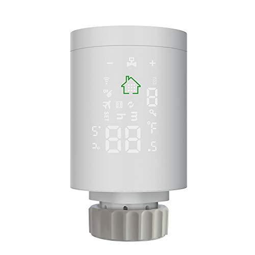 Thermostat Heizung Thermostatkopf Intelligenter Heizkörperregler ZIGBEE 3.0 Heizkörperthermostat Programmierbarer Thermostatischer Mobile APP-Steuerung Fernbedienung Sprachsteuerung über Alexa