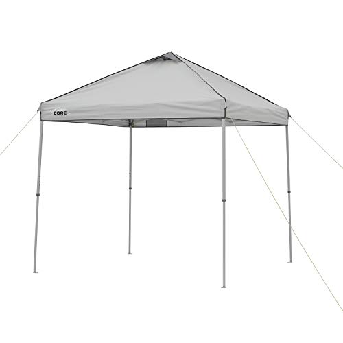Core Instant Straight Leg Canopy Tent with Carry Bag, 8 ft x 8 ft , Gray