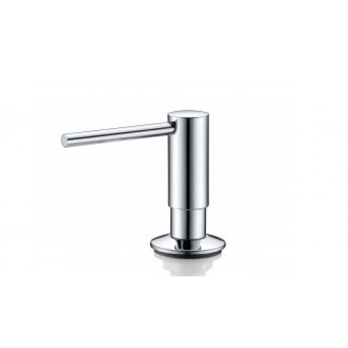 Pompe à savon/ distributeur de savon Mizzo Govaro - distributeur de désinfectant - chromé - flacon 300ml - accessoires de cuisine