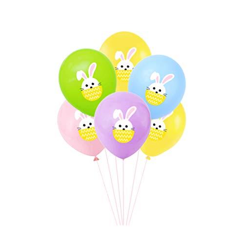 Amosfun 50 Stücke 12 Zoll Ostern Luftballons Cartoon Kaninchen Gedruckt Luftballons Schöne Latex Luftballons Liefert Schmuck für Hof Fenster