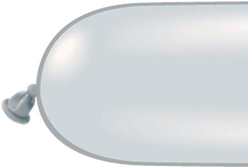 Qualatex 350Q Medium Twisting Balloons (Silber) by Qualatex