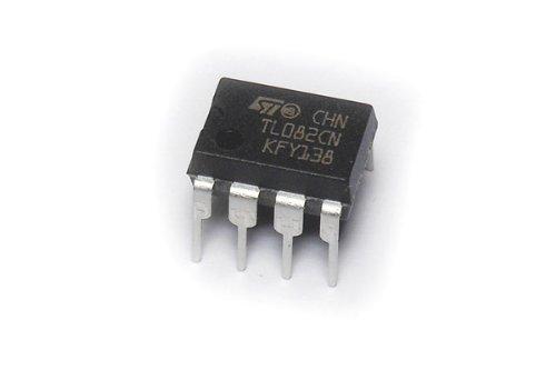 TL082 Op-Amp JFET inputs, low input bias current DIP-8 Package TL082CN