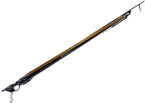 BEUCHAT Marlin HD Carbon Speargun - Double Rubber Bands - Spring Stainless Steel Spear - Professional for Spearfishing (105CM)