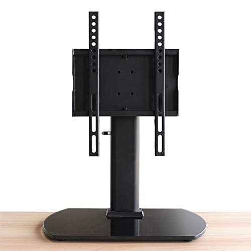 Universal Table Top TV Stand Base with 3 Level Height Adjustable and Swivel Mount Bracket for 20-43 Inch Plasma LCD Led Flat or Curved Screen TVs, Vesa Patterns Up to 300mm x 200mm