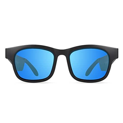 1 par de gafas de sol inalámbricas Bluetooth IP67 lentes polarizadas impermeables para hombre y mujeres conectando teléfonos móviles y tabletas
