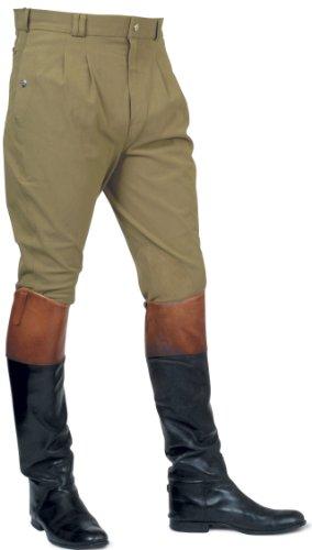 Mark Todd Auckland - Pantaloni da Equitazione da Uomo, con Pieghe Anteriori, Verde (Verde Oliva), 71,12 cm
