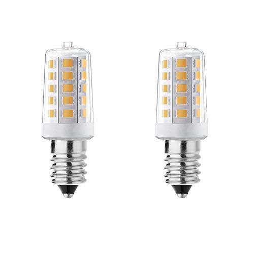 Noobibaba E14 LED Warmweiss Glühbirne, LED E14 4W 400 Lumen, Ersetzt 40W Birne, Nicht Dimmbare Kleine Edison-Schraube, Tischlampe, Kronleuchter, Innenbeleuchtung, 2700K Warmweiß LED, 2er Pack
