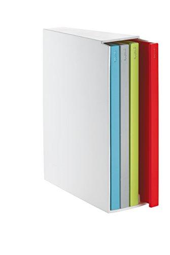 Guzzini Kitchen Active Design Set 4 Taglieri con Raccoglitore Cooking Book, Multicolore, 4 unità