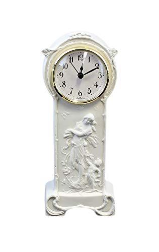 Kämmer Bisquitporzellan Uhr Jugendstil