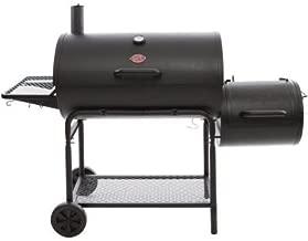 Char-Griller 1624 Smokin' Champ Charcoal Grill Horizontal Smoker in Black