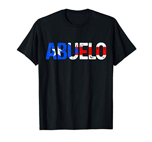 Mens Abuelo Puerto Rico Flag Puerto Rican Pride Father's Day Gift T-Shirt