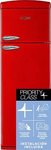 Sauber - Frigorífico combi Dos Puertas SFR1750R - Eficiencia energética: A+ - 175,5x60,5cm - Color Rojo