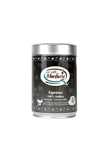 Caffè Monforte Espresso 100% Arabica gemahlen in Dose, 1er Pack (2 x 250 g)