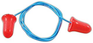 Honeywell MAX-30 Howard Leight Max-30 Max Disposable Foam Corded Earplugs, 100 Pairs, One Size, Red with Blue Chord (Pack of 100)