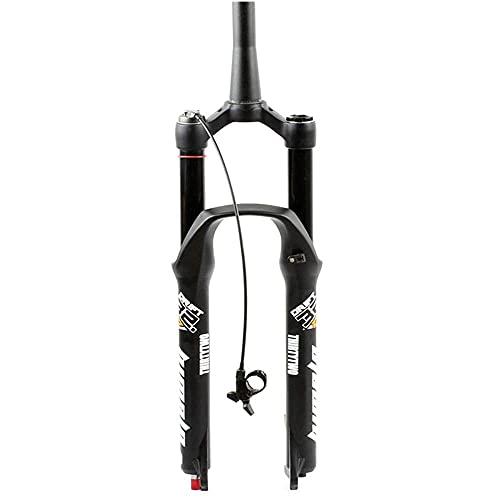 ZLofe Horquilla de suspensión MTB, Recorrido de 100 mm, suspensión de Bicicleta de montaña, presión de Aire, amortiguación de la Horquilla Delantera, Eje de Barril de Tubo Recto 26 Ajustable