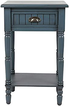 Decor Therapy Bailey Bead board 1-Drawer Accent Table